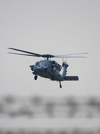 Naval Air Facility Atsugi - A US Navy MH-60S Seahawk training flight