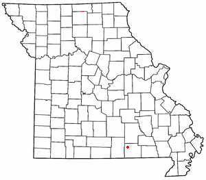 Thomasville, Missouri - Image: MO Map doton Thomasville