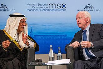 Turki bin Faisal Al Saud - Prince Turki and John McCain at the Munich Security Conference, 2014