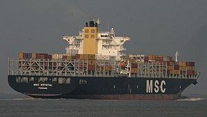 MSC Krystal on the Thames.jpg