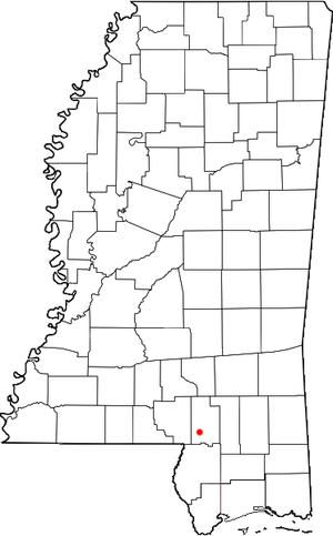 Baxterville, Mississippi - Location of Baxterville, Mississippi