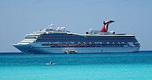 MS Carnival Valor at Half Moon Cay from beach.jpg