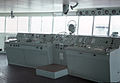MS HAKKODA MARU propeller control console(left) and steering wheel stand(center) 1968.jpg