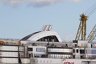 MS Viking Grace - Image: MS Viking Grace, Pernon telakka, Hahdenniemen venesatama, Raisio, 11.8.2012 (14)
