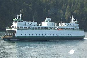 Steel Electric-class ferry - MV Illahee sailing in the San Juan Islands
