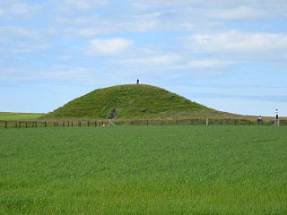 Maeshowe Neolithic chambered cairn and passage grave situated on Mainland Orkney, Scotland