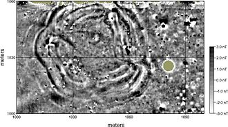 Wichita people - Geophysical image depicting the subsurface archaeological footprint of a Great Bend aspect council circle
