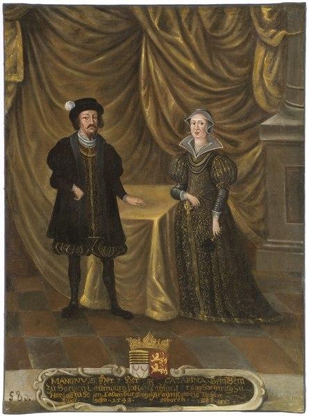 Magnus I, död 1543, hertig av Sachsen-Lauenburg, Katarina, 1488-1563, prinsessa av Braunschweig - Nationalmuseum - 15280