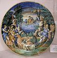 Maiolica di urbino, sforza di marcantonio, ratto di europa, 1549.jpg