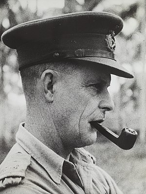 Cyril Clowes - Major General Cyril Albert Clowes  at the Battle of Milne Bay, New Guinea, 1942