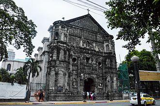 Del Pilar Street - Malate Church on Del Pilar Street