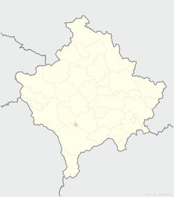 Loko de la municipo de Mamuša ene de Kosovo