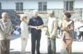 Mandela presents Clinton with quarried rock 03.png