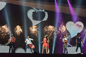 """Zaleilah - Mandinga performing """"Zaleilah"""" during their first rehearsal in Baku, Azerbaijan."""