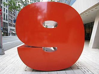 "Solow Building - ""The Red 9"" in front of the Solow Building by Ivan Chermayeff"