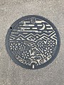 Manhole cover of Mikatsuki, Ogi, Saga.jpg