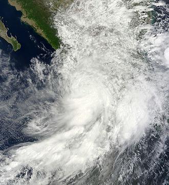 Hurricane Manuel - Tropical Storm Manuel over Western Mexico on September 15