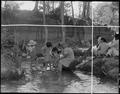 Manzanar Relocation Center, Manzanar, California. Evacuees enjoying the creek which flows along the . . . - NARA - 538087.tif