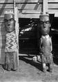 Maori wooden carvings at Te Whai-a-te Motu, Mataatua ATLIB 142656.png