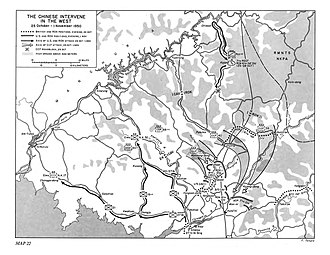 Battle of the Ch'ongch'on River - Image: Map Chinese intervention