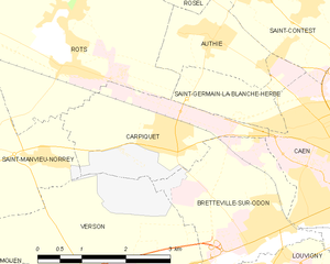 Operation Windsor - Map of Carpiquet area, commune FR insee code 14137