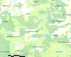 Map commune FR insee code 26266.png