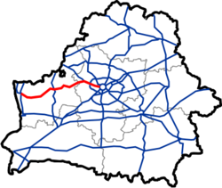 Map of Automobile Roads in Belarus M6.png