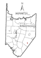 Map of Elderton, Armstrong County, Pennsylvania Highlighted.png