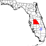 A state map highlighting Polk County in the middle part of the state. It is large in size.