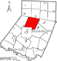 Map of Indiana County, Pennsylvania Highlighting Rayne Township.PNG