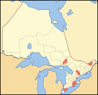 Single-Tier Municipalities of Ontario