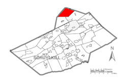 Map of Schuylkill County, Pennsylvania Highlighting North Union Township.PNG