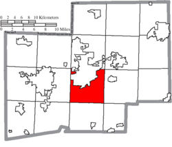 Location of Canton Township in Stark County