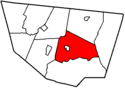 Map of Sullivan County Pennsylvania Highlighting Laporte Township.png