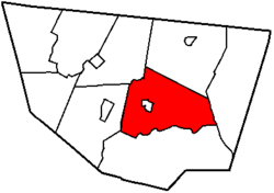 Map of Sullivan County, Pennsylvania highlighting Laporte Township
