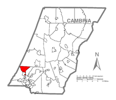 Map of West Taylor Township, Cambria County, Pennsylvania Highlighted.png