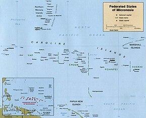 Mikronesiens placering