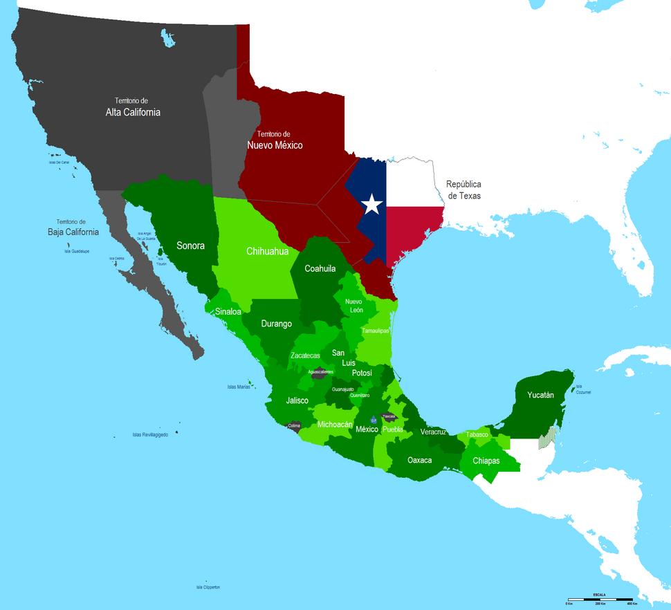 Mapa de Mexico 1840 2