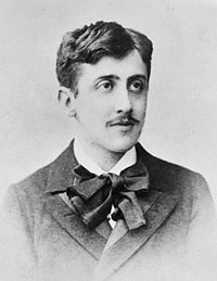 black and white photo of Marcel Proust