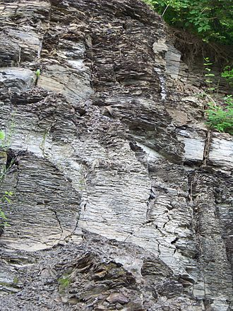 Marcellus Formation - Image: Marcellus Shale Bank 1