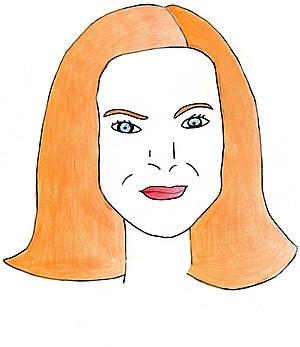 Dessin de l'actrice américaine Marcia Cross (B...