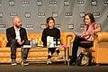 Marie Gamillscheg, Daniel Wisser, Katja Gasser - Buchmesse Wien 2018.JPG