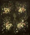 Marmeren borstbeeld omgeven door een festoen van vruchten Rijksmuseum SK-A-763.jpeg