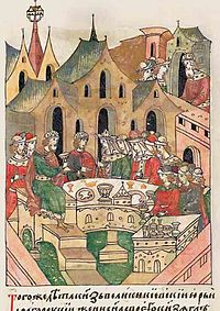 Marriage of Gleb of Kiev with Iziaslavna of Chernigov.jpg