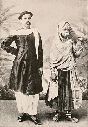 Marwari people - Marwari husband and wife in traditional attire