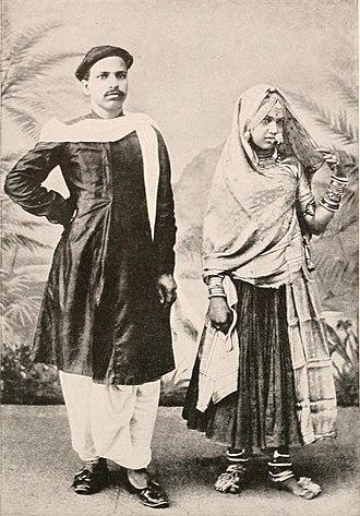 Marwari people - Marwari husband and wife in traditional attire