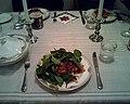 Mary's lasagne and salad (3248966423).jpg