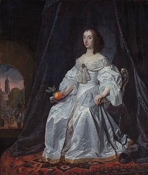 Mary, Princess Royal and Princess of Orange - Mary Henrietta Stuart (1652 painting by Bartholomeus van der Helst)