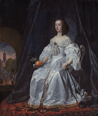 Mary, Princess Royal and Princess of Orange - Mary Henrietta Stuart (1652 painting by Bartholomeus van der Helst)