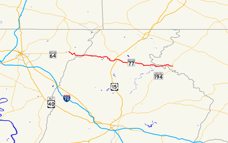 Maryland Route 77 - Image: Maryland Route 77 map